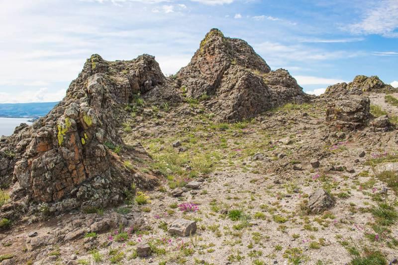 Green Khula Rocks in Olkhon
