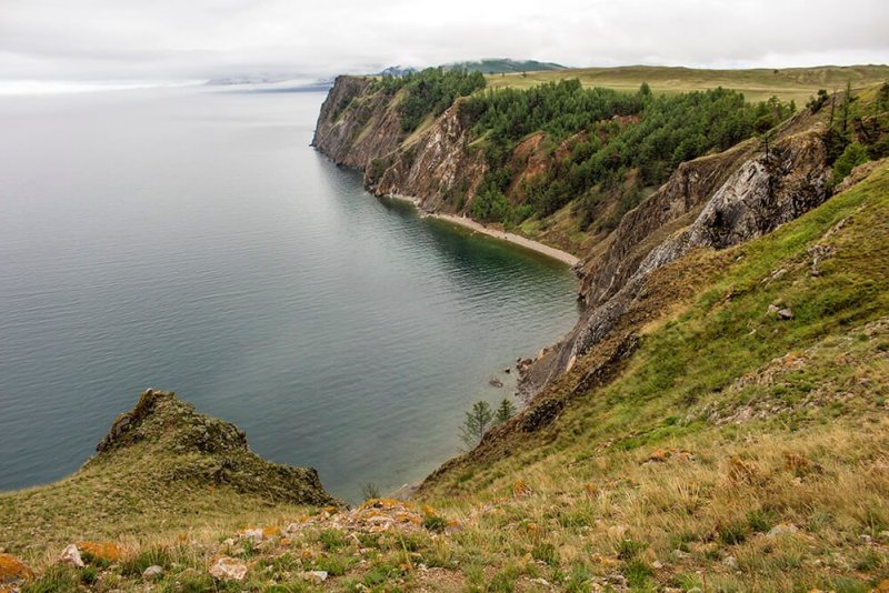 The rugged shores of Olkhon Island