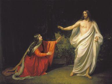 JESUS RESSUSCITADO APARECE A MARIA MADALENA