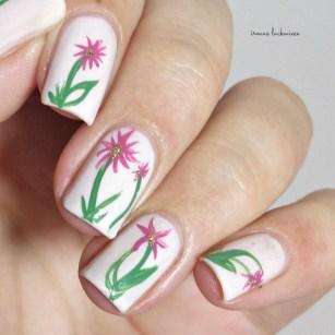 orly powder puff + flower nailart (7)