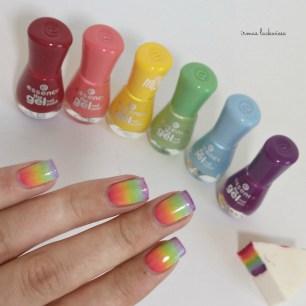 rainbow gradient nails (2)