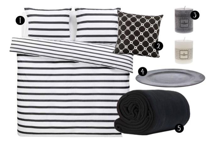 Dekbed zwart wit
