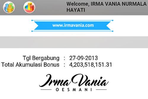 bonus irma vania