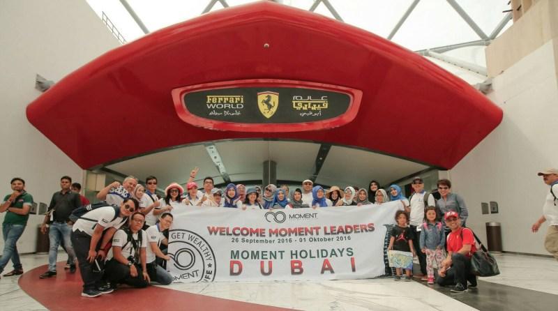liburan di Liburan di Ferrari World Abu Dhabi Irma Vania Moment
