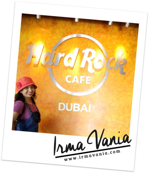 Irma Vania Pengalaman ke Hard Rock Cafe Dubai