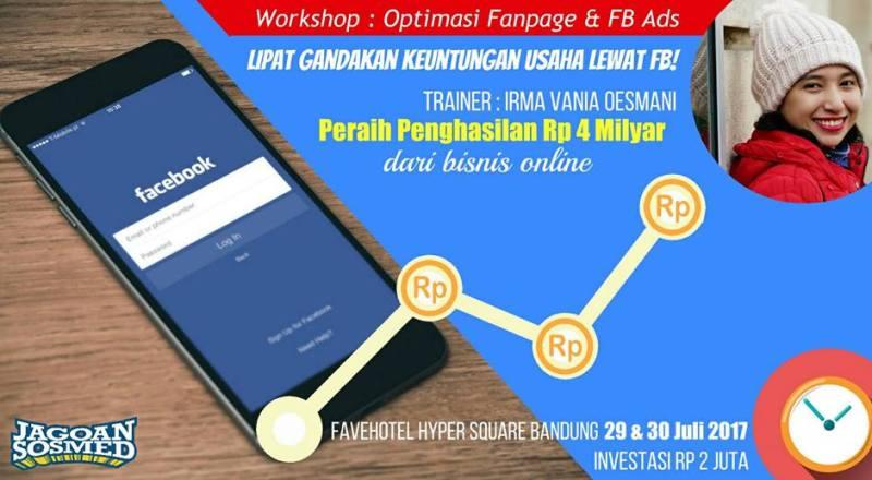 Jagoan Sosmed Workshop Bandung Jualan Online Laris di FB Irma Vania