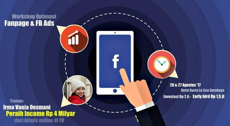 Training Bisnis Surabaya Fanpage dan FB Ads Irma Vania