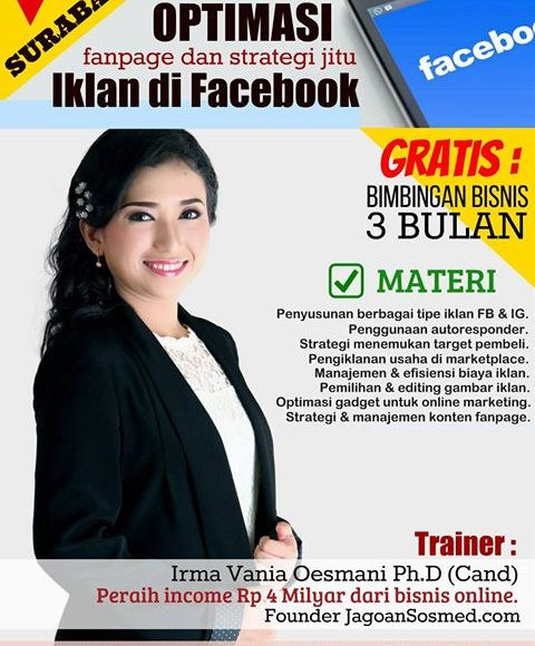 Irma-Vania-Oesmani-Jagoan-Sosmed-Pelatihan-Bisnis-Online-Surabaya-Harga-Diskon-Instagram
