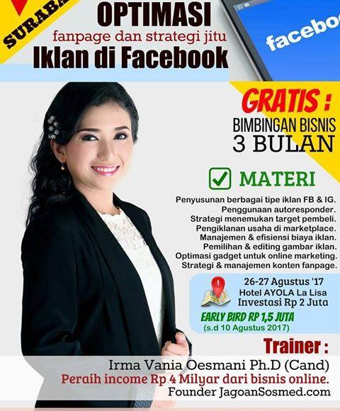 Irma Vania Oesmani Jagoan Sosmed Pelatihan Bisnis Online Surabaya Harga Diskon