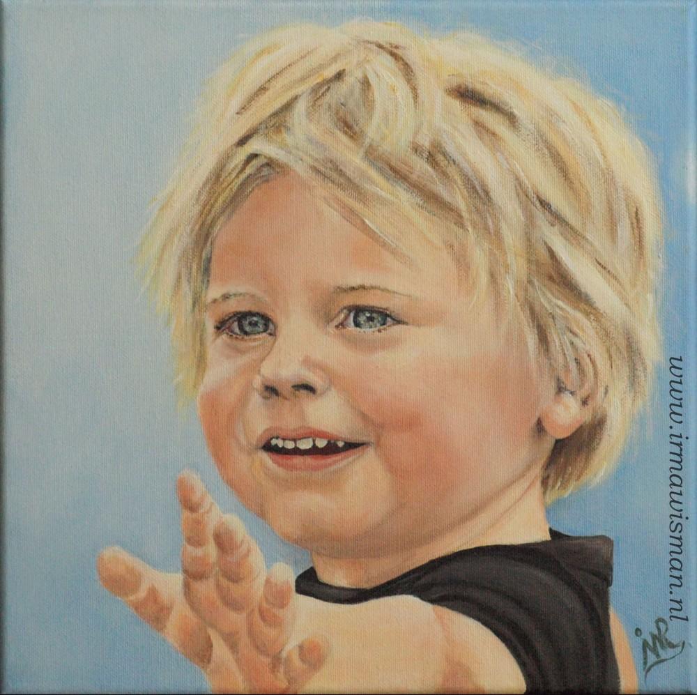 Portret  Irma Wisman  van Rooijen schilderijen
