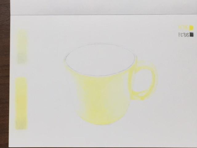 色鉛筆 コップ