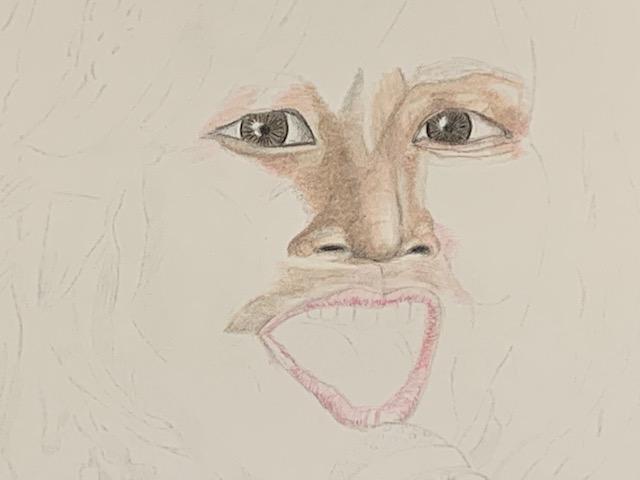 色鉛筆 森口博子 似顔絵 イラスト
