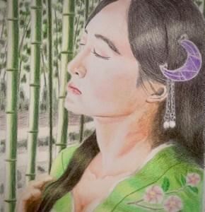 色鉛筆 かぐや姫 昔話 イラスト