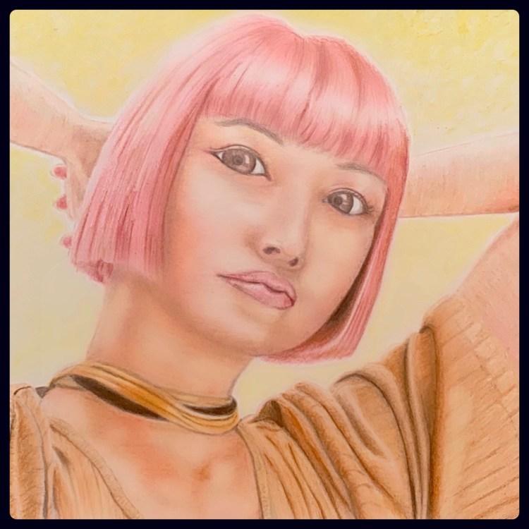 色鉛筆 imma 女の子 イラス