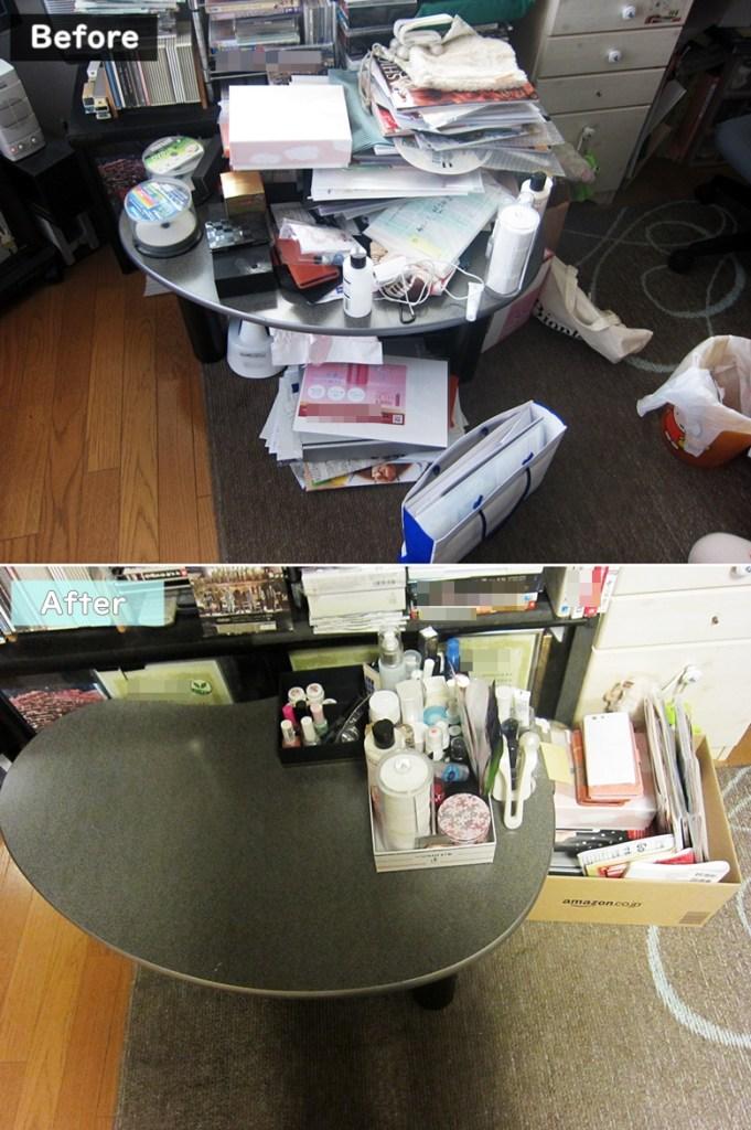 テーブルの整理収納その1:IROHA@HOME