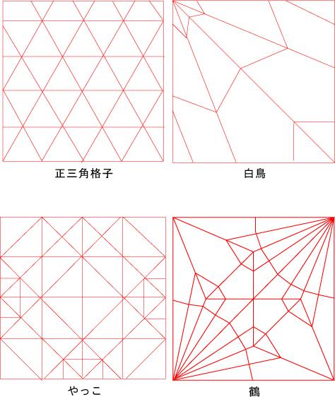 図:折り紙の展開図