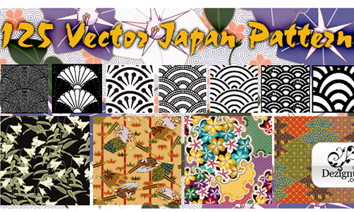 125 Vector Japanese Patterns