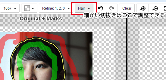 ClippingMagic Hair