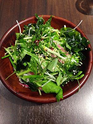 小豆島のオリーブソーメン 10種類の香草サラダぶっかけ(冷)