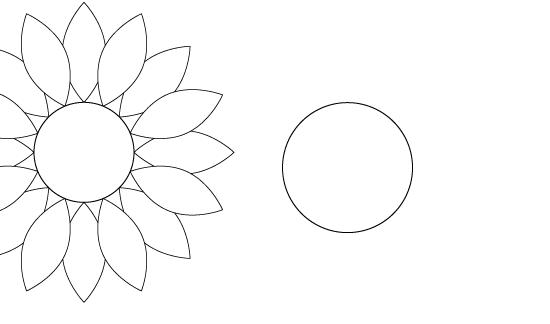 楕円形ツールで種の部分を描く