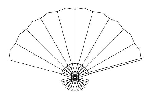 Illustratorで扇子を描く方法 -和素材作り-