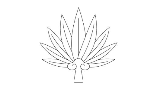 [線画配布]Illustratorで天狗の団扇を描く方法 -和素材づくり-