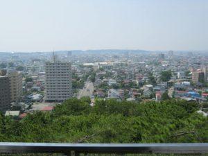 久保田城から見る秋田市