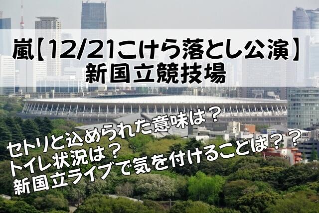 チケット 場 国立 嵐 競技 ライブ