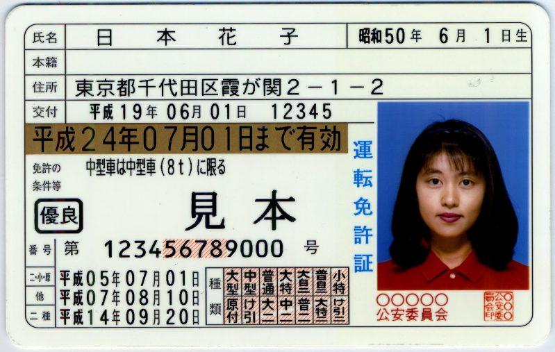 運転免許証番号12ケタの意味 テストの点数?違反や犯罪歴?