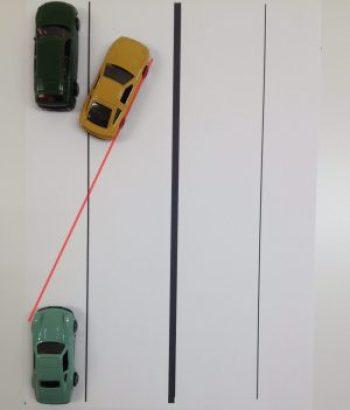 縦列駐車ハンドル2回目