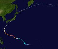 昭和54年台風20号進路