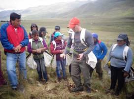 formation de paysans péruviens à la plante d'arbres