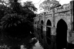 The 'Athpula' or the 'eight piered Bridge' which was built during the reign of Mughal Emperor Akbar.
