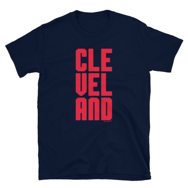 Cleveland CLE VEL AND Red Blue Indians inspired Short-Sleeve Unisex T-Shirt