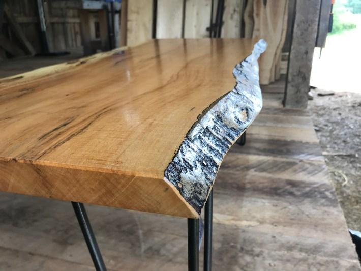 Maple & Steel Textured Coffee table