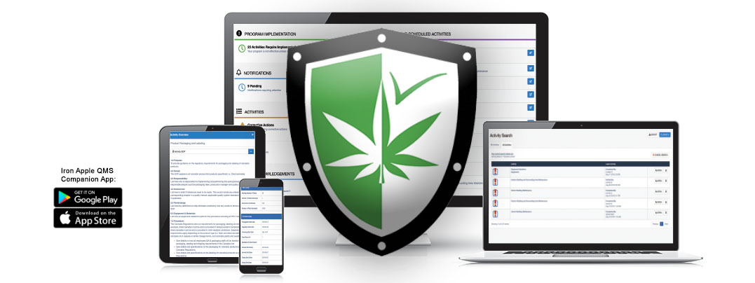 Iron Apple QMS for the Cannabis Production Industry