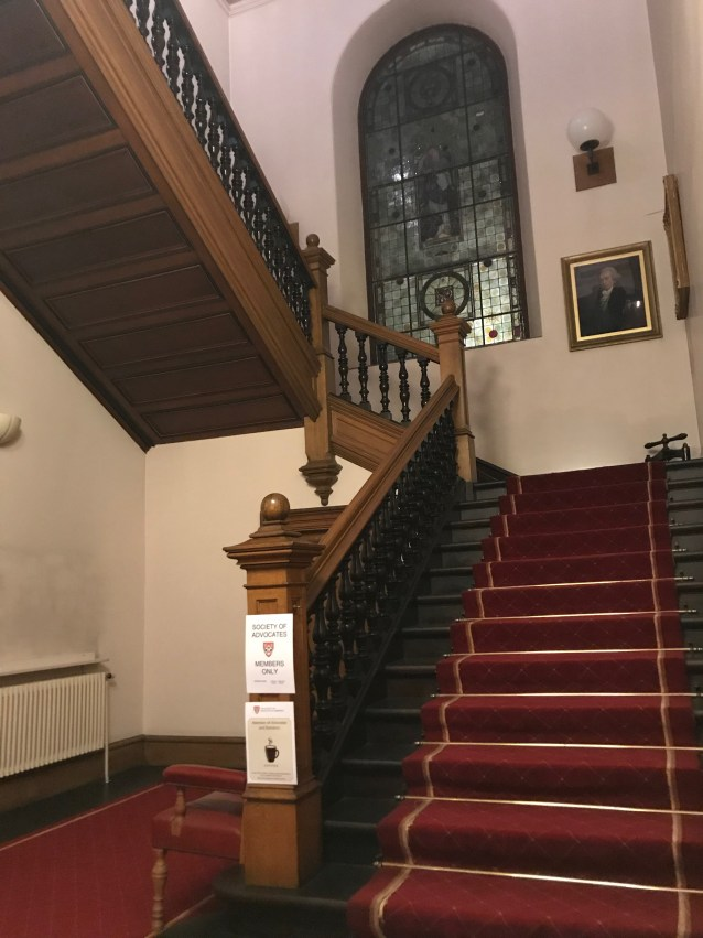 Staircase in the Society of Advocates, Aberdeen.