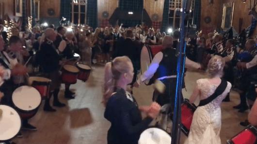 scottish wedding ceilidh at lonach hall