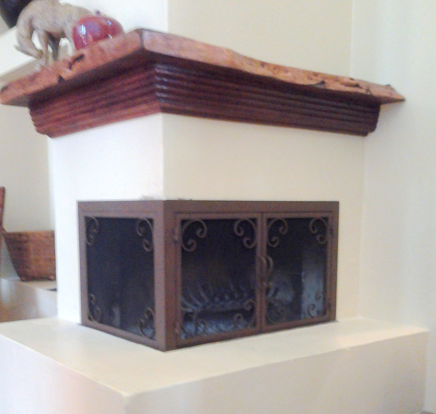 Fire Screen For Corner Fireplace IronCraft In AZ