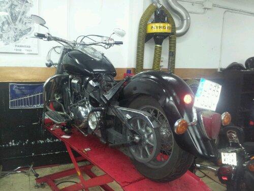 Arreglo guardabarros Harley davidson 6