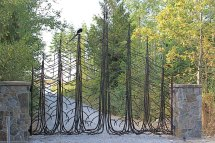 Wrought Iron Driveway Gates Designs