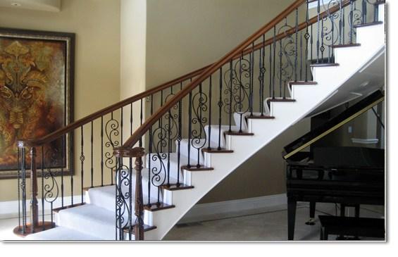 Custom Built Stair Case Railings Las Vegas Nv Wrought Iron   Custom Stairs And Railings   Guardrail   Barnwood   Upstairs   Interior   Ss Railing Design