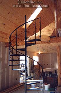 Spiral Staircase Ironwork  Wrought Iron Gates Railing