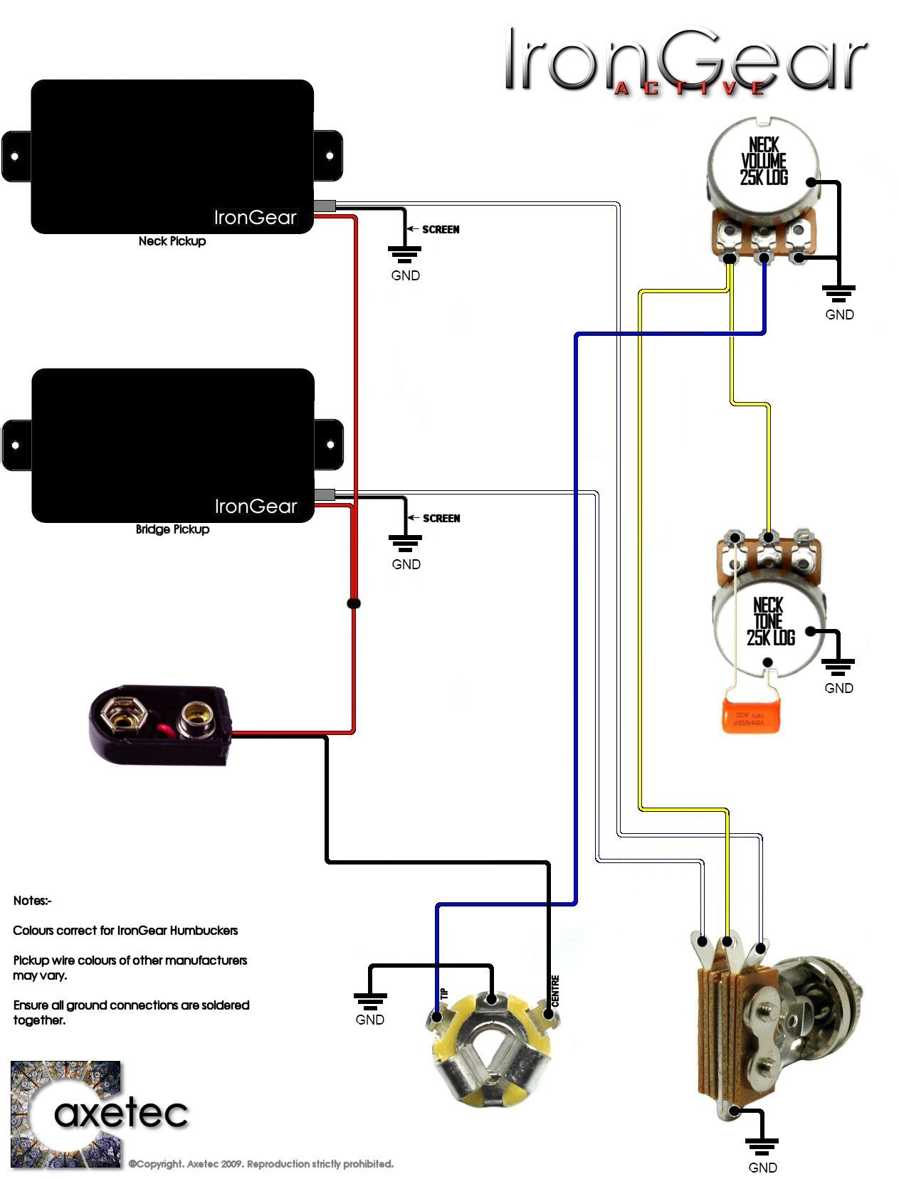 precision bass wiring diagram rothstein guitars %e2%80%a2 serious tone for the player 2003 grand caravan humbucker guitar pickup diagrams library 2 x active humbuckers 1 volume 3 way toggle selector