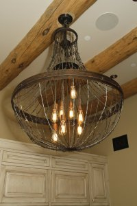 Ironglass Lighting | Barbed Wire Chandelier