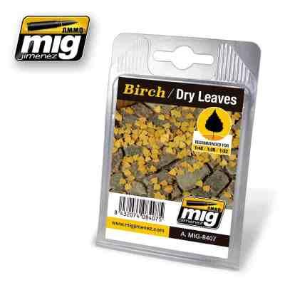 Birch - Dry Laser Cut Leaves