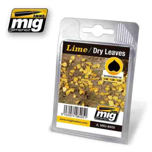 Lime - Dry Laser Cut Leaves
