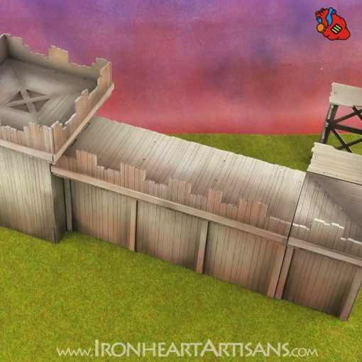 Modular Fort Long Wall for Kings of War