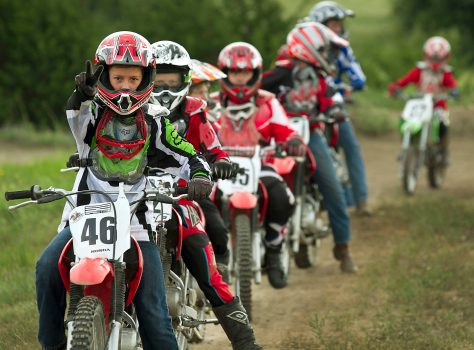 Dirt Bike Rider at Iron Horse Country Ranch motocross summer camp in Austin Tx