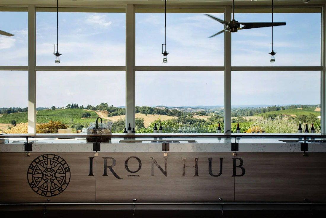 Iron Hub Winery Tasting Room View